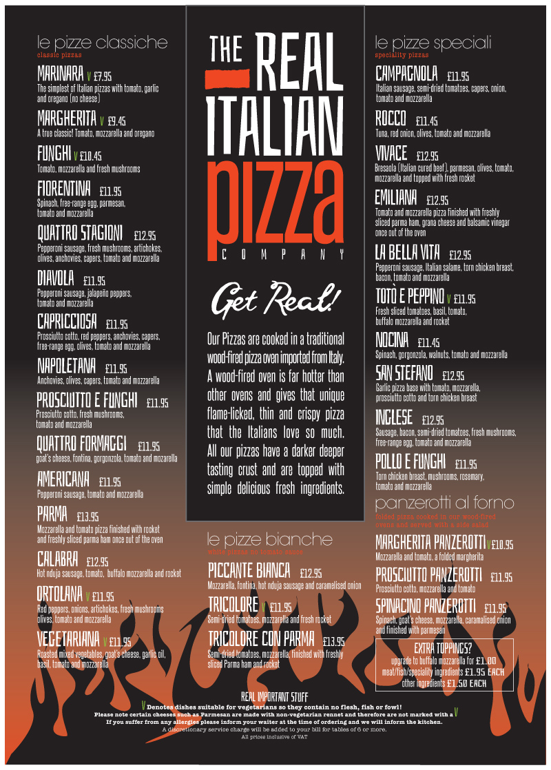 The Real Italian Pizza Company Authentic Italian Pizzas